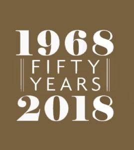 1968 - 2018 promo logo