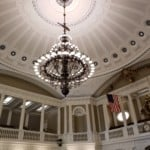 the ceiling of the state house