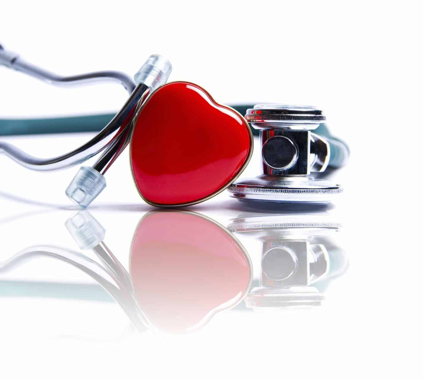 stethescope and a heart