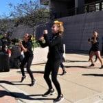 girls dancing outdoors