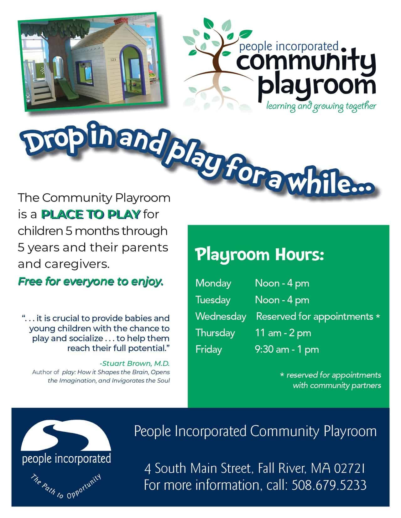 Community Playroom flyer