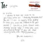 Liz letter
