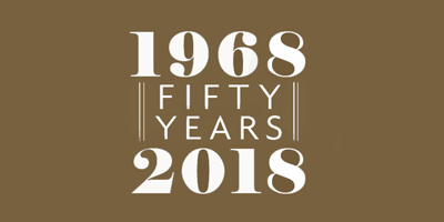 1968 - 2018 fifty years promo